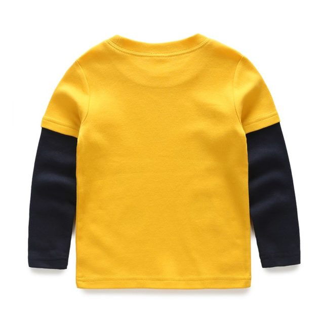 Fashion Cutely Designed Boy's Long-Sleeved Tee