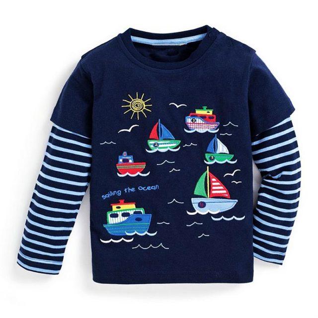 Long Sleeve Warm Boys Sweatshirt