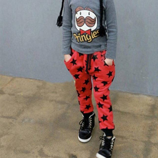 Fashion Casual Star Patterned Cotton Boy's Pants