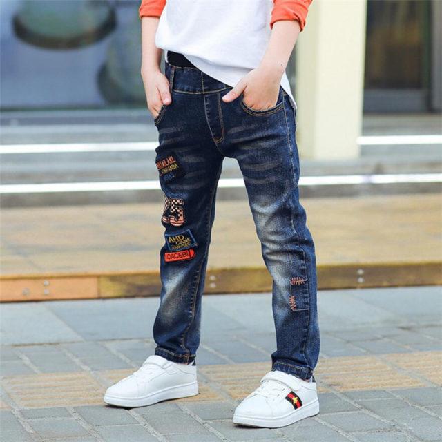 Spring Classic Blue Denim Trousers