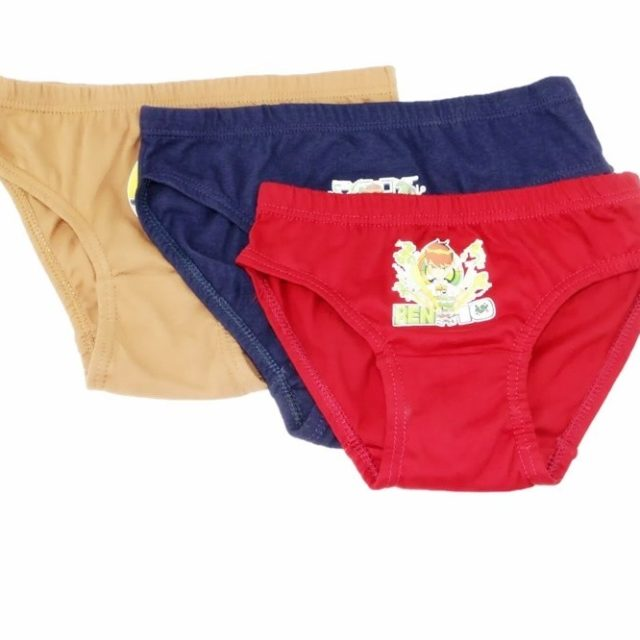 Stylish Cartoon Print Cotton Panties for Boys