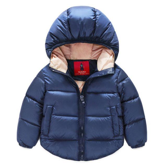 Fashion Warm Hooded Cotton Boy's Jacket