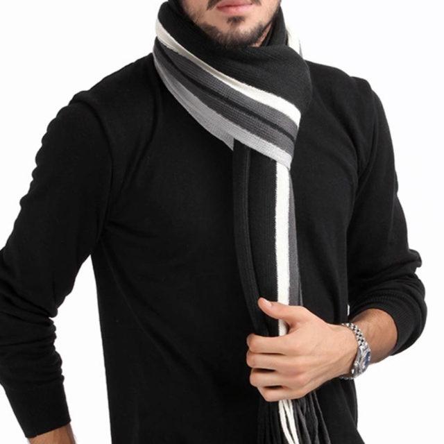 Men's Winter Striped Scarf