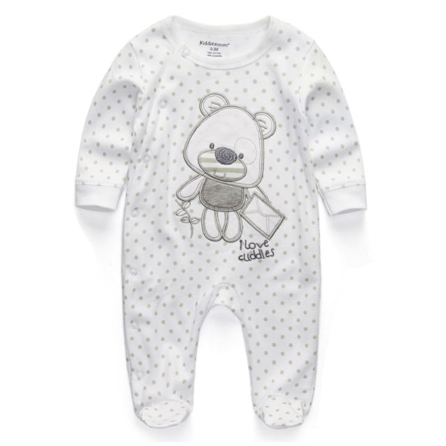 Baby's Casual Long Sleeve Cotton Jumpsuit