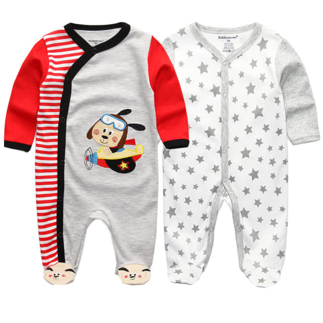 Baby's Cotton Long Sleeve Jumpsuit