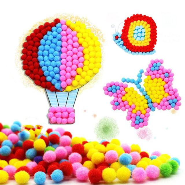 Creative Educational Handmade Plush Balls Paintings