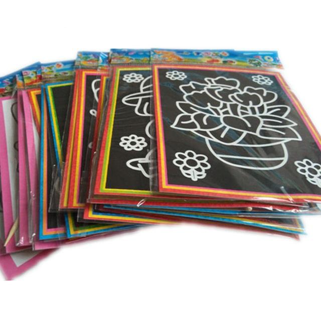 Educational Art Paper Kid's Coloring Cards Set