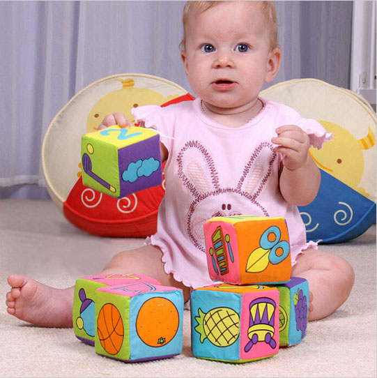 Cloth Building Blocks Set Cubes