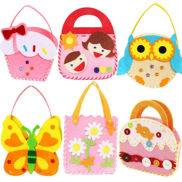 Handmade Non-Woven Fabric Hand Bags for Children