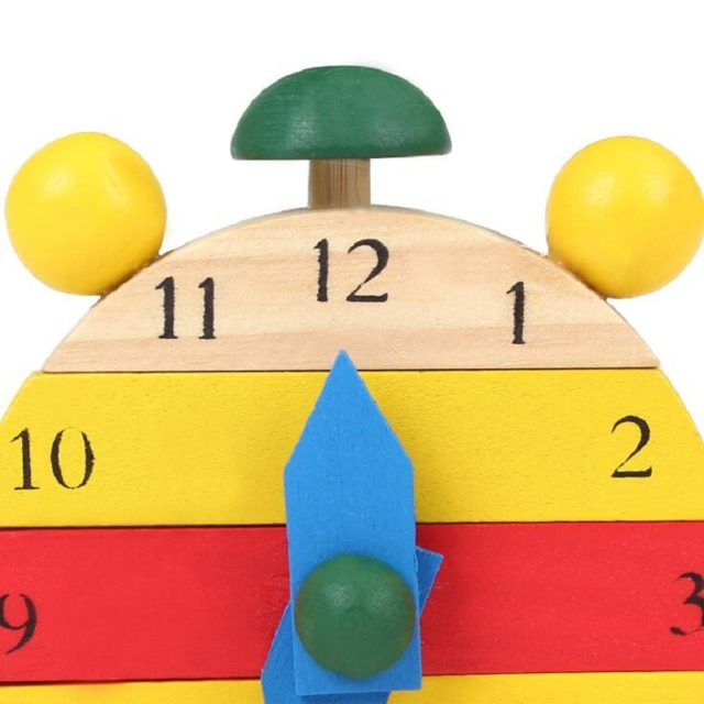 Wooden Mini Puzzle Clock for Children