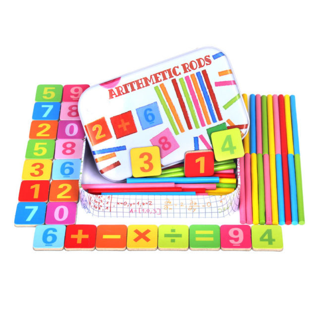 Montessori Educational Wooden Arithmetic Rods