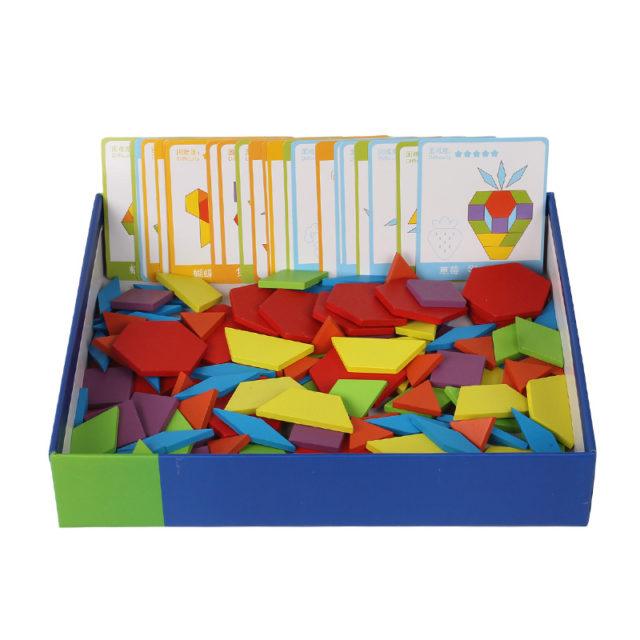 Montessori Educational Geometric Shape Wooden Puzzle