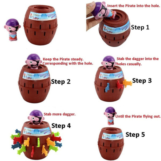Pirate Barrel Funny Interactive Kid's Toy