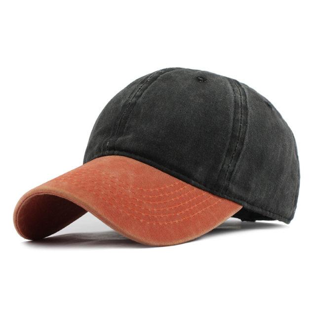 Washed Denim Snapback Baseball Cap