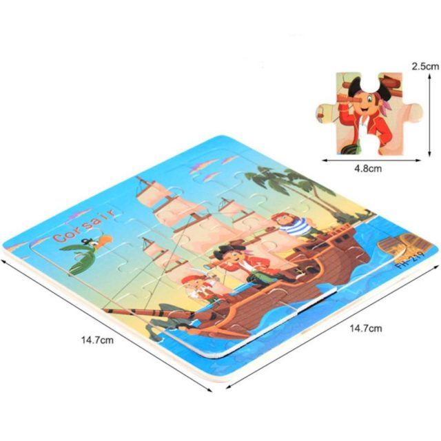 Cartoon Wooden Puzzle Toy