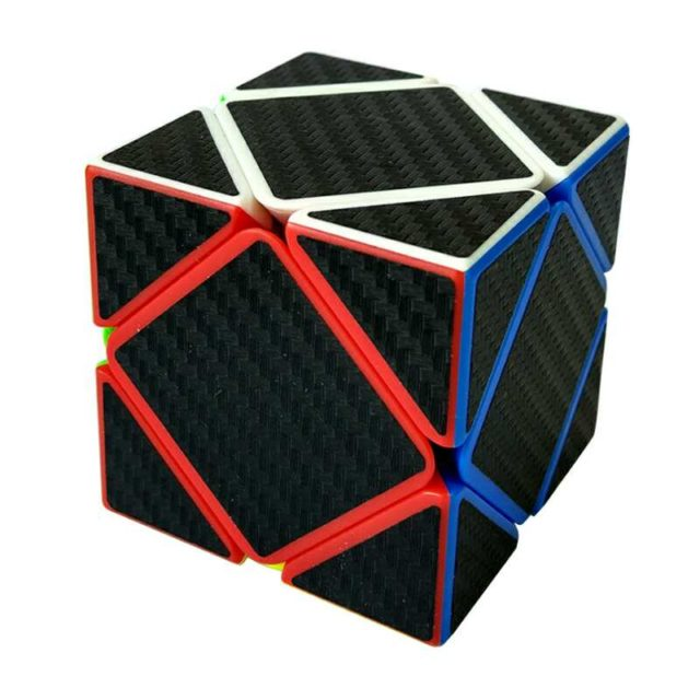 Kids' Colorful Plastic Magic Cube with Carbon Themed Pattern
