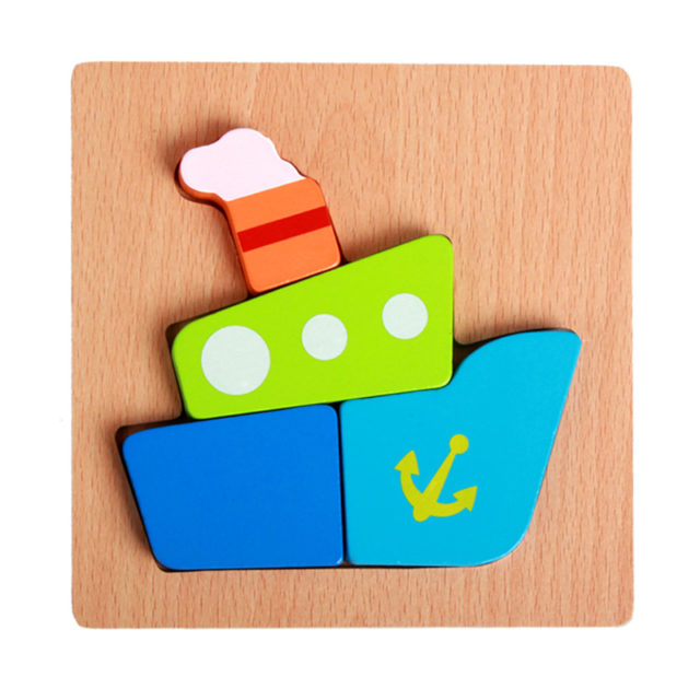 Cartoon Style 3D Wooden Puzzle