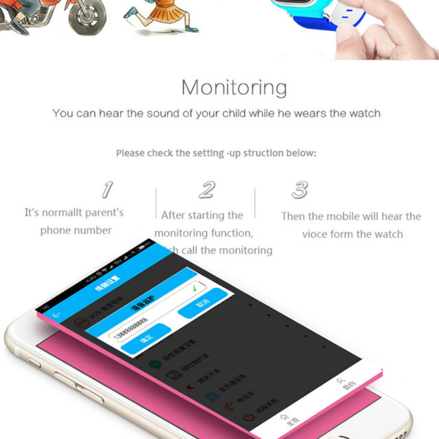 GPS Fashion Smart Watches for Children