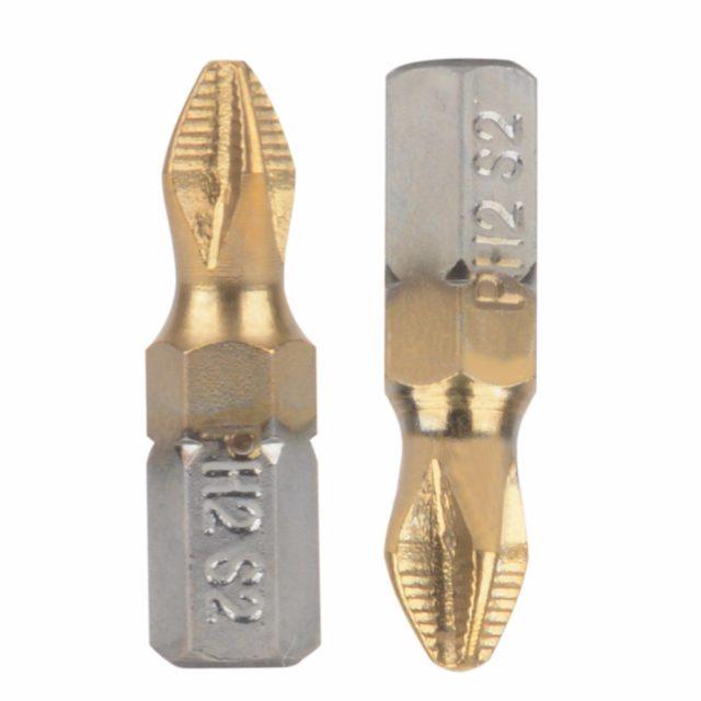Titanium Coated Screwdriver Bits 10 pcs Set