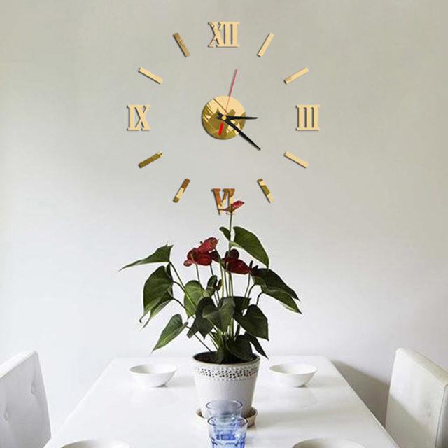 Metallic Large Wall Sticker Clock