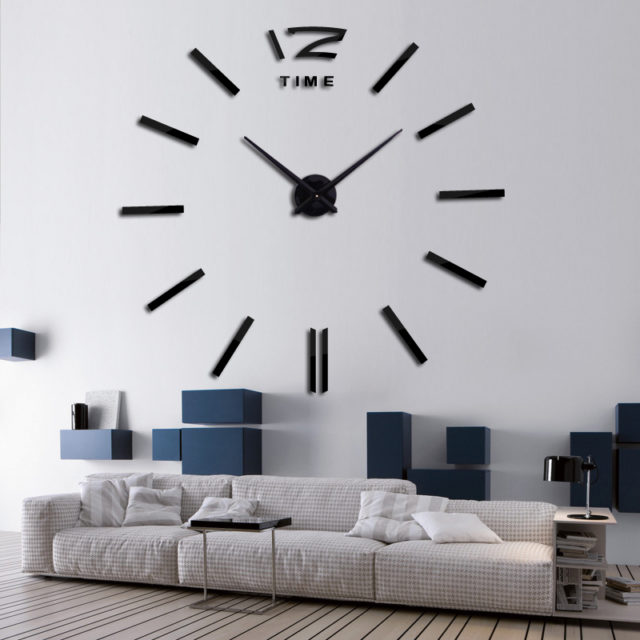 Modern Style Mirror Wall Clock