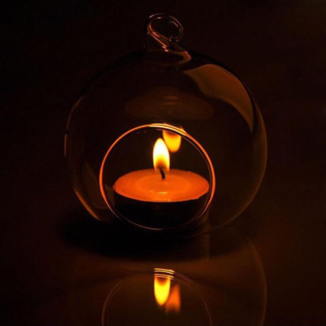Glass Round Candle Holder