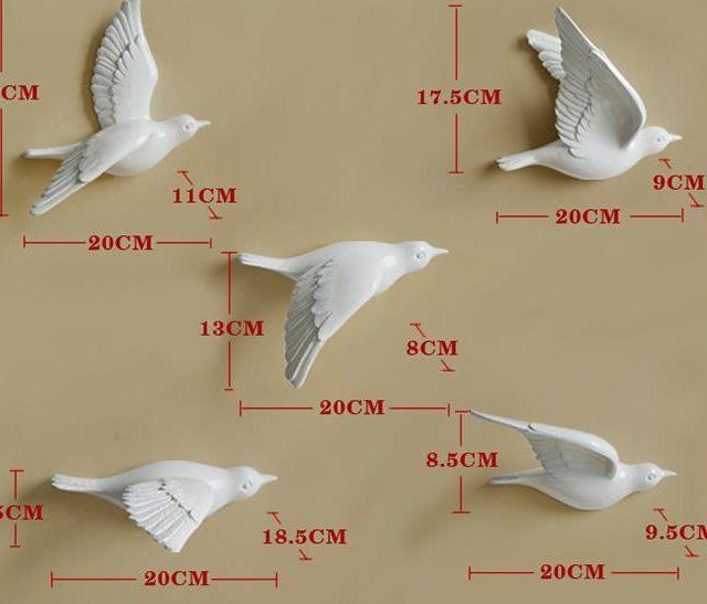 Creative Flying Birds Wall Figurines