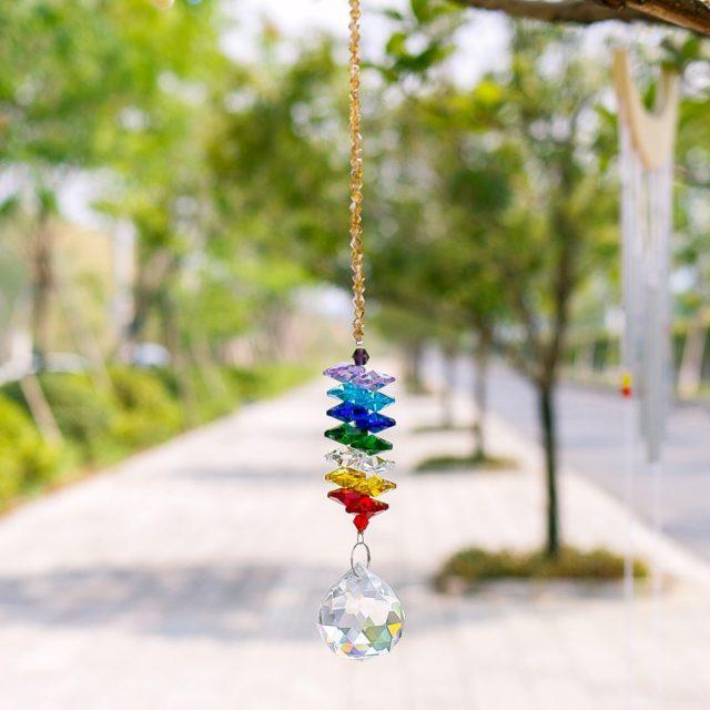 Amazing Iridescent Multicolor Crystal Suncatcher