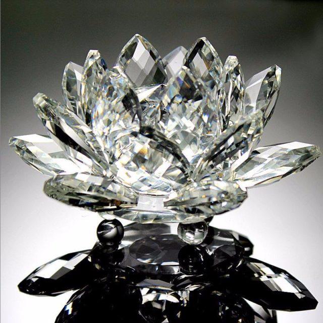 Feng Shui Crystal Lotus Figurine