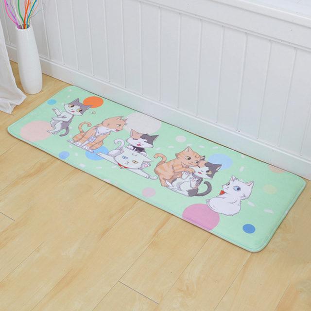 Cat Printed Floor Mats