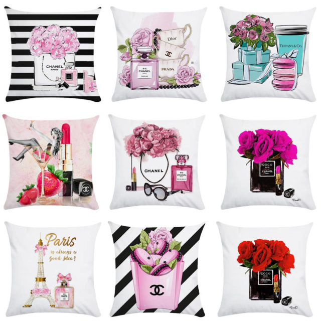 Fashion Themed Cushion Cover