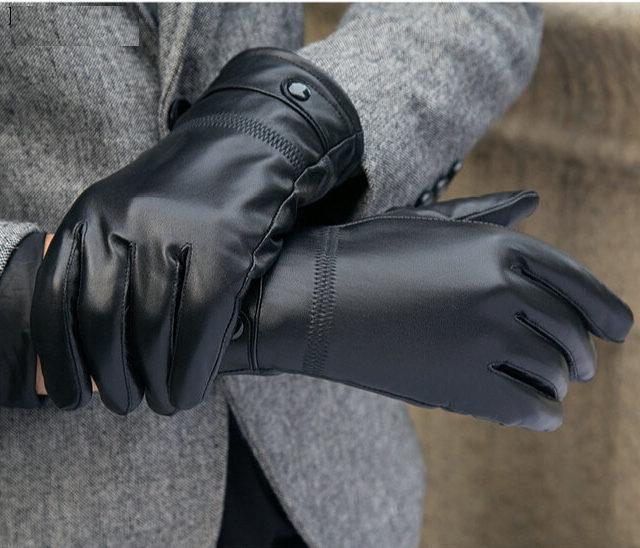 Men's Warm Leather Gloves