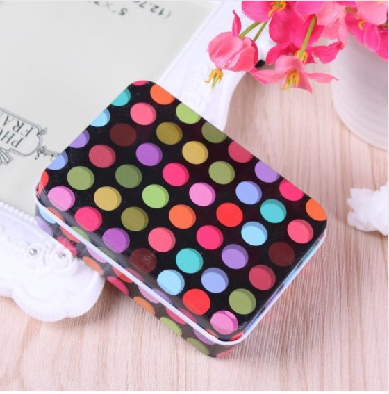 Girl's Colorful Print Storage Box