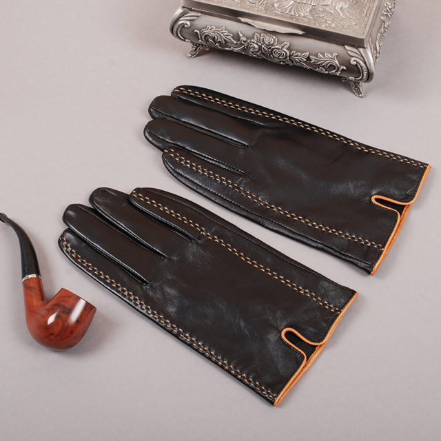 Soft Men's Leather Gloves