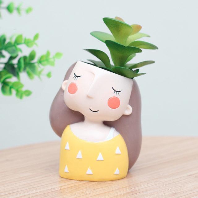 Lovely Girl Creative Design Succulent Pots Set