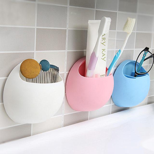 Egg-Shaped Toothbrush Holder For Bathroom