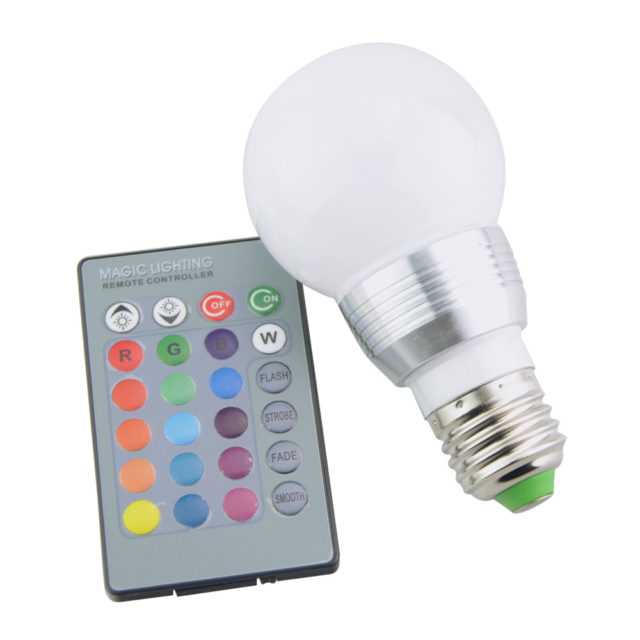 Color Changing Light Bulbs with Remote Control