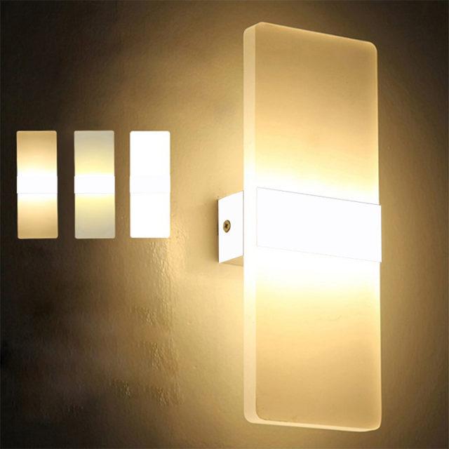 Mini LED Acrylic Bedroom Wall Lamp