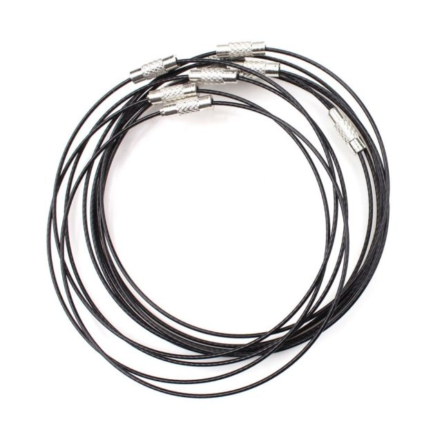 Stainless Steel Necklace Ropes Set of 10 pcs