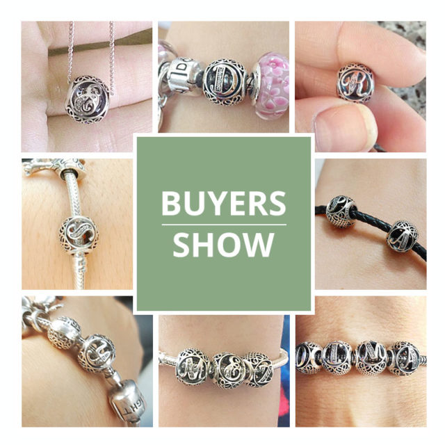 Silver Plated A to Z Letters Charm Bracelet Beads