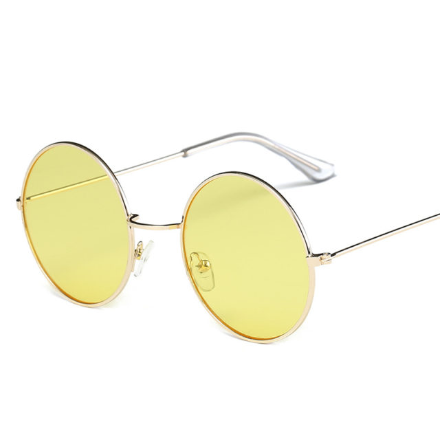 Women's Candy Color Round Sunglasses