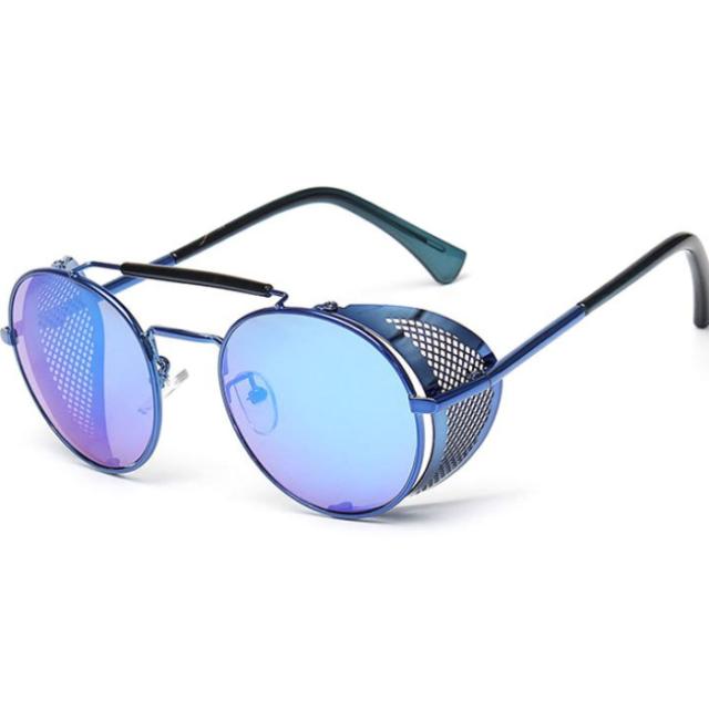 Men's Retro Round Photochromic Sunglasses