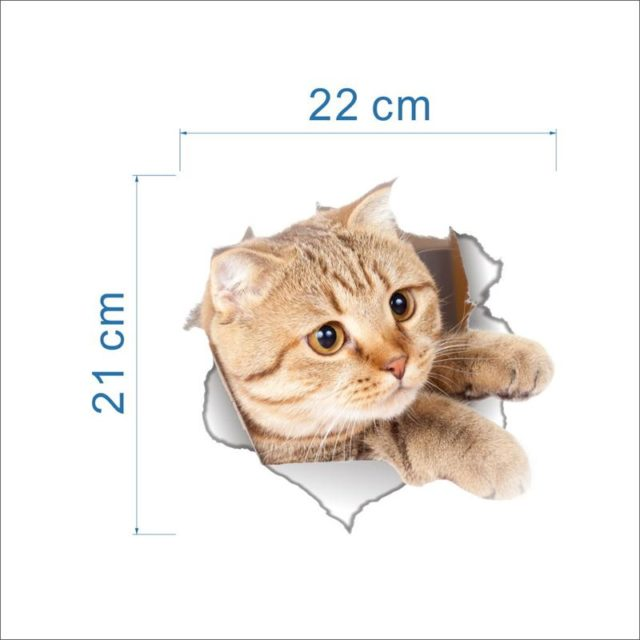 Funny Cat 3D Toilet Stickers
