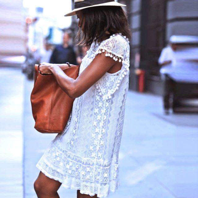 Women's Summer Beach Lace Dress