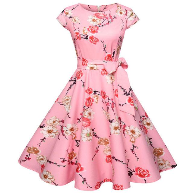 Women's Vintage Floral Printed Dress