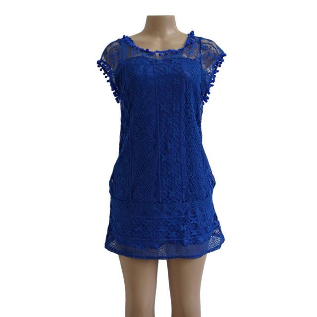 Women's Lace Beach Mini Dress