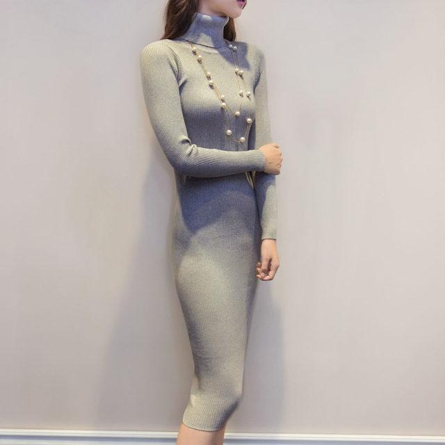 Women's Knitted Slim Dresses
