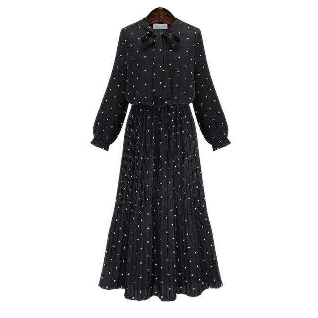 Women's O-Neck Long Sleeved Dress