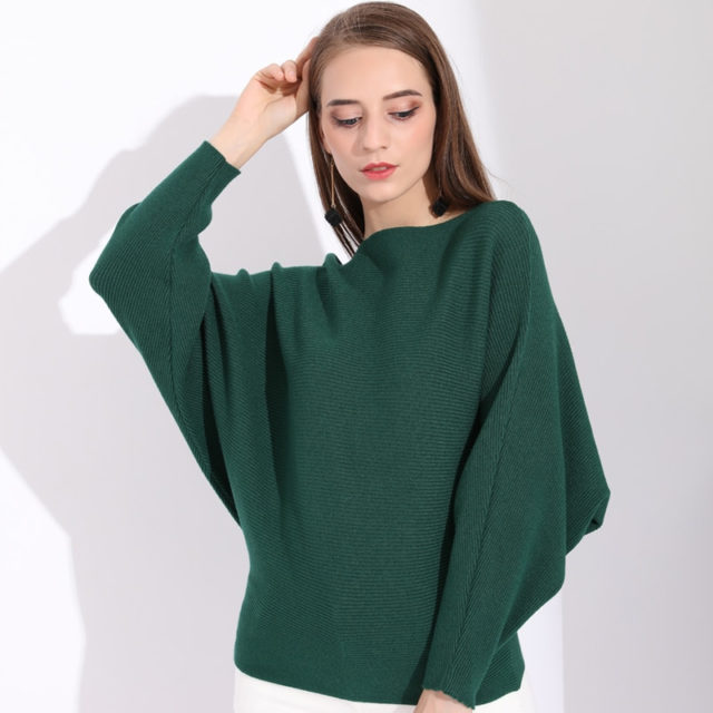 Women's Oversize Knitted Batwing Sweater