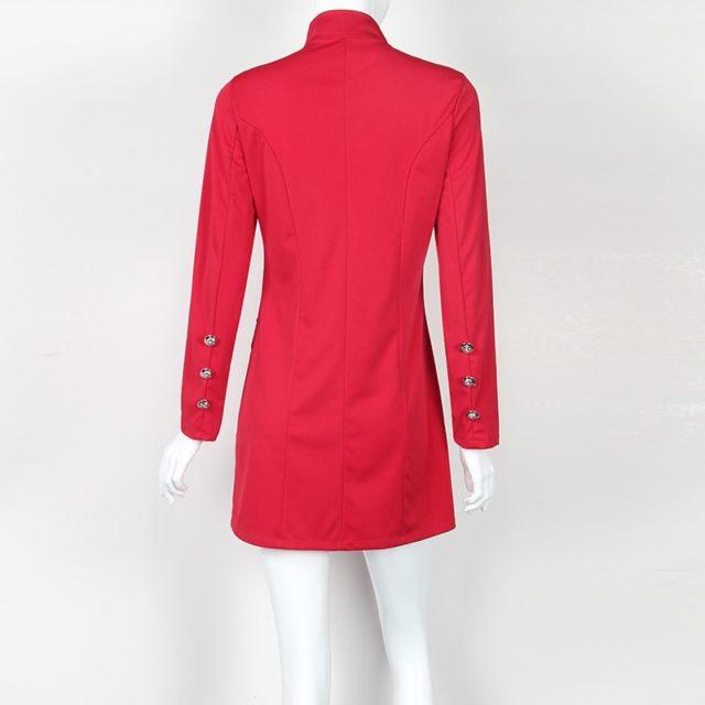 Women's Single Breasted Long Coat